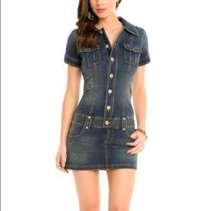 Guess Jeans Mini Skirt Denim Dress Stretch